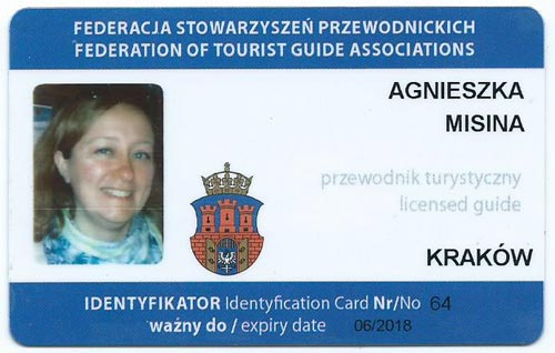 Agnieszka tour guide license